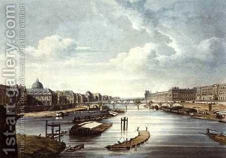 The Louvre, from Views on the Seine, engraved by Thomas Sutherland b.1785 published by R. Ackermann 1764-1834 1821 by (after) Pugin, Augustus Charles - Reproduction Oil Painting