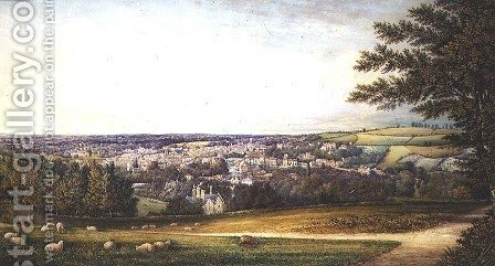 Guildford from the South West, 1865 by Henry Prosser - Reproduction Oil Painting