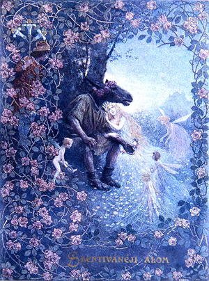 Famous paintings of Fairies: Illustration from A Midsummer Nights Dream by William Shakespeare 1565-1616 c.1900