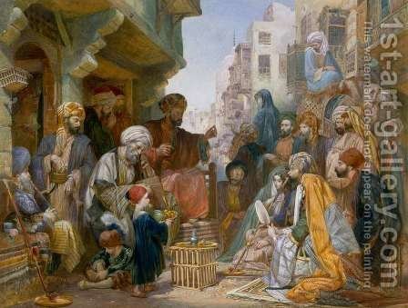 Turkish Street Scene by Amadeo Preziosi - Reproduction Oil Painting