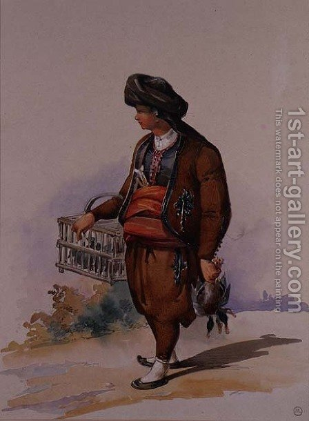A Duck Seller, c.1855 by Amadeo Preziosi - Reproduction Oil Painting