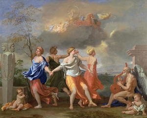 Reproduction oil paintings - Nicolas Poussin - A Dance to the Music of Time, c.1634-36