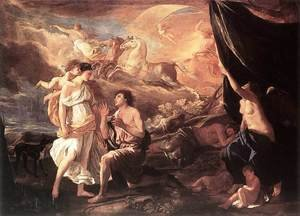 Reproduction oil paintings - Nicolas Poussin - Selene and Endymion, c.1630