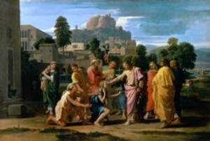 Reproduction oil paintings - Nicolas Poussin - The Blind of Jericho, or Christ Healing the Blind, 1650