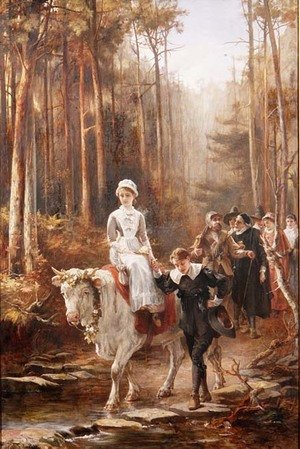 Reproduction oil paintings - Laslett John Pott - Priscilla, The Courtship of Miles Standish, 1885