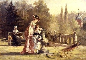 Reproduction oil paintings - Laslett John Pott - Life is like a Sundial, 1878