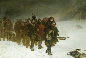 Reproduction oil paintings - Laslett John Pott - On the March from Moscow, 1873