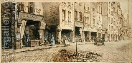 A Street by Adolphe Martial Potemont - Reproduction Oil Painting
