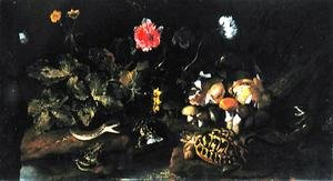 Still Life with a Snake, Frogs, Tortoise and Lizard