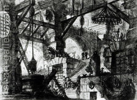 Imaginary Prison by Giovanni Battista Piranesi - Reproduction Oil Painting