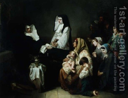 Death of a Sister of Charity, 1850 by Isidore Alexandre Augustin Pils - Reproduction Oil Painting