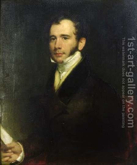 Portrait of William Thomas Brande 1788-1866 1830 by Henry William Pickersgill - Reproduction Oil Painting
