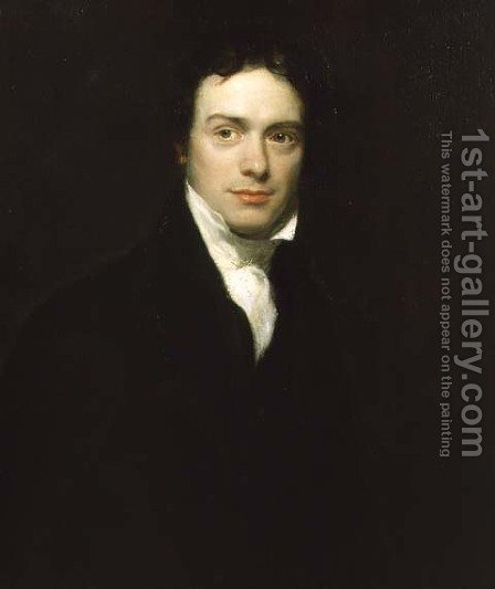 Portrait of Michael Faraday Esq 1791-1867 1830 by Henry William Pickersgill - Reproduction Oil Painting
