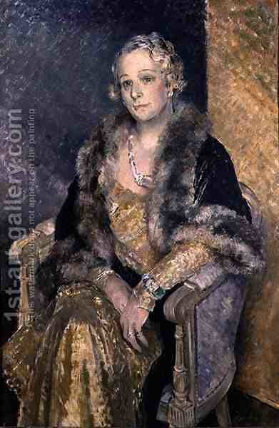 Portrait of Mrs Woolmer, c.1933-34 by Glyn Warren Philpot - Reproduction Oil Painting