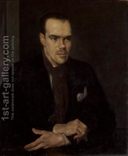 Portrait of Van Cox by Glyn Warren Philpot - Reproduction Oil Painting
