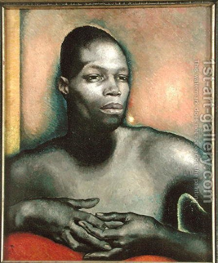 Study of a Negro by Glyn Warren Philpot - Reproduction Oil Painting