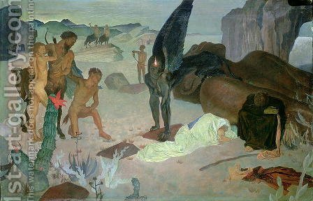 Repose on the Flight into Egypt, c.1922 by Glyn Warren Philpot - Reproduction Oil Painting