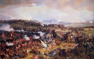 Romanticism painting reproductions: Cuirassiers Charging the Highlanders at the Battle of Waterloo on 18th June 1815, 1874