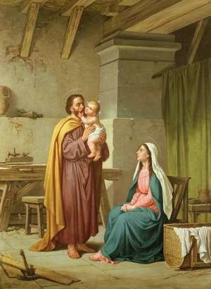 Academic Classicism painting reproductions: The Holy Family in St Josephs Workshop