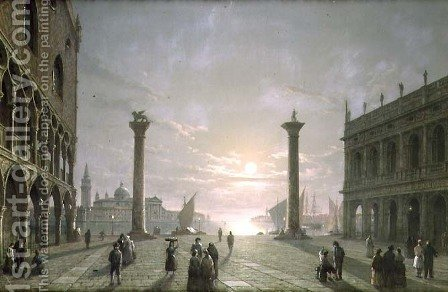 The Grand Canal From Piazza San Marco by Henry Pether - Reproduction Oil Painting