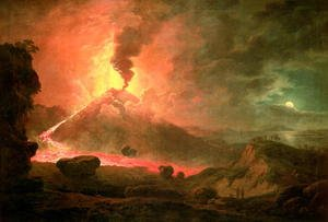 Famous paintings of Volcanoes: The Eruption of Vesuvius