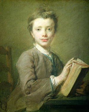Academic Classicism painting reproductions: A Boy with a Book, c.1740