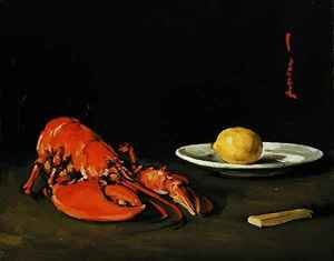 Famous paintings of Plates & Bowls: The Lobster, c.1901