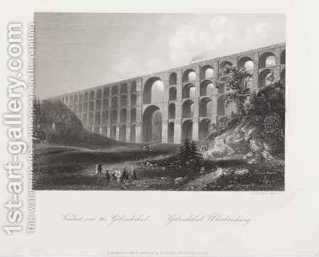 Viaduct Over the Golzschthal, Saxony, c.1840 by Albert Henry Payne - Reproduction Oil Painting