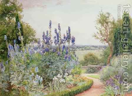 A Garden Near the Thames by Alfred Parsons - Reproduction Oil Painting