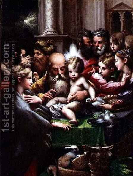 The Circumcision, c.1523 by Girolamo Francesco Maria Mazzola (Parmigianino) - Reproduction Oil Painting