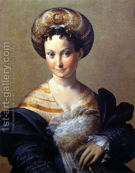 A Turkish Slave by Girolamo Francesco Maria Mazzola (Parmigianino) - Reproduction Oil Painting