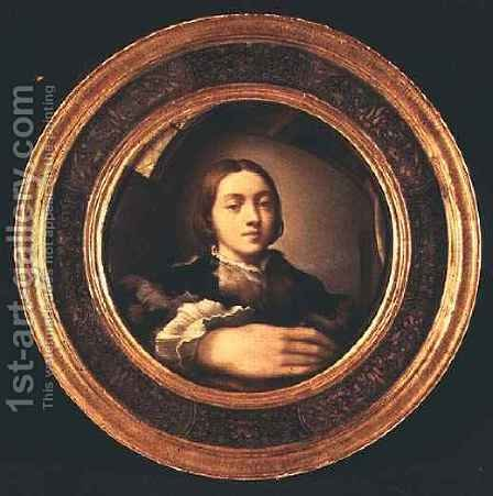 Self Portrait at the Mirror by Girolamo Francesco Maria Mazzola (Parmigianino) - Reproduction Oil Painting