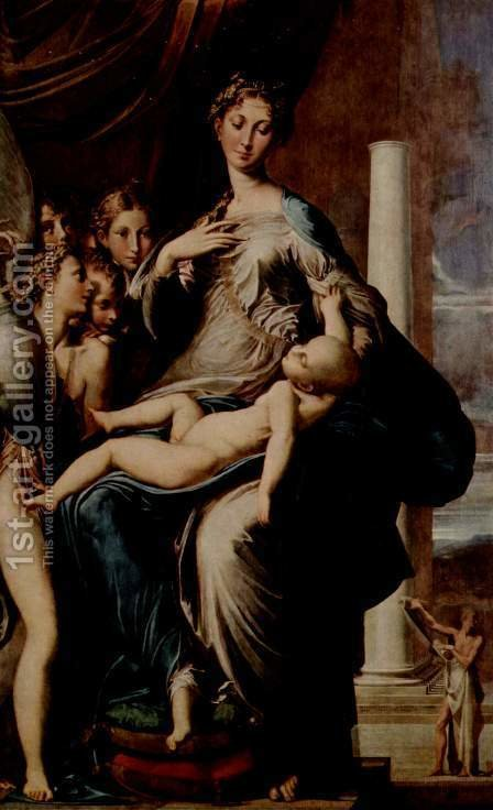 Madonna with the Long Neck, 1534-40 by Girolamo Francesco Maria Mazzola (Parmigianino) - Reproduction Oil Painting