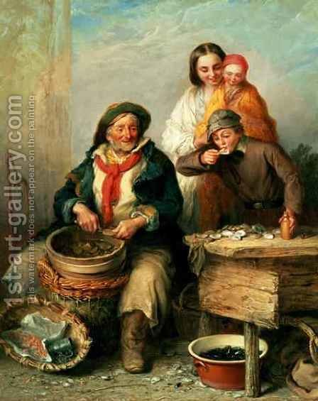 Oysters, Young Sir by Henry Perlee Parker - Reproduction Oil Painting