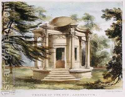 Temple of Victory, Kew Gardens, plate 19 from Kew Gardens: A Series of Twenty-Four Drawings on Stone, engraved by Charles Hullmandel 1789-1850 published 1820 by (after) Papendiek, George Ernest - Reproduction Oil Painting