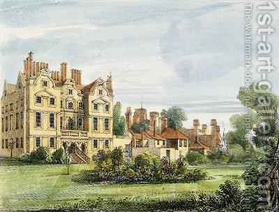 North Front, Old Palace, from the Queens Garden, plate 5 from Kew Gardens A Series of Twenty-Four Drawings on Stone, engraved by Charles Hullmandel 1789-1850 published 1820 by (after) Papendiek, George Ernest - Reproduction Oil Painting