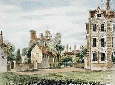 New Palace, from the Queens Garden, plate 4 from Kew Gardens A Series of Twenty-Four Drawings on Stone, engraved by Charles Hullmandel 1789-1850 published 1820 by (after) Papendiek, George Ernest - Reproduction Oil Painting