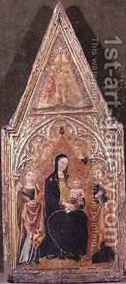 The Madonna and child with a Royal Female Martyr and Evangelist by Giovanni Fei Paolo di - Reproduction Oil Painting
