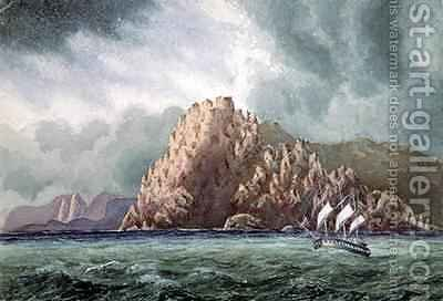 The Voyage of HMS Topaz to the Pacific 1865-69, Cape Horn by J. Linton Palmer - Reproduction Oil Painting