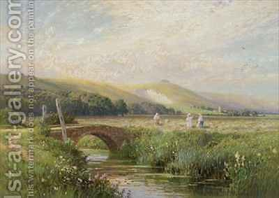 Watermeadows near Amberley by Harry Sutton Palmer - Reproduction Oil Painting