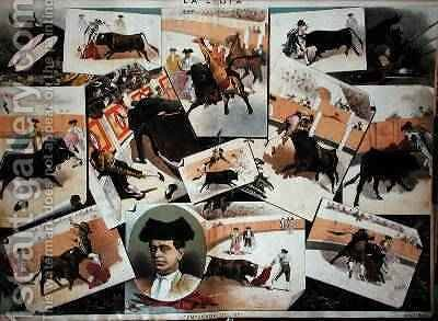 The Bullfighting Season of 1885 by J. Palacios - Reproduction Oil Painting