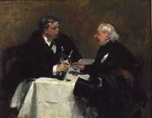 Reproduction oil paintings - David Oyens - Refusing a Drink, 1876