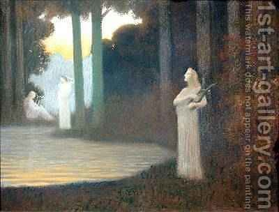 Lyricism in the Forest, 1910 by Alphonse Osbert - Reproduction Oil Painting