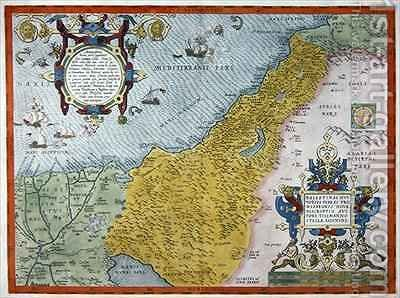 Map of Palestine, from Theatrvm Orbis Terrarvm, 1570 by Abraham Ortelius - Reproduction Oil Painting