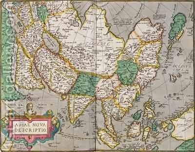 Map of Asia, c.1580 by Abraham Ortelius - Reproduction Oil Painting