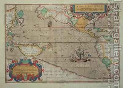 Map of the Pacific, China and America, 1589 by Abrahamus Ortelius l527-98 by Abraham Ortelius - Reproduction Oil Painting