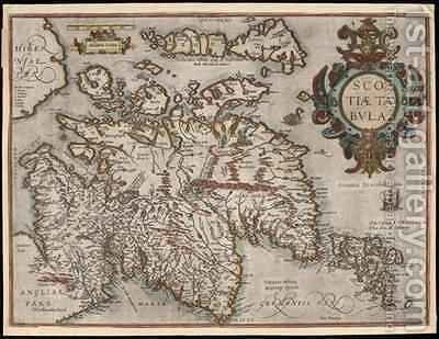 Scotiae Tabula, 1580 by Abraham Ortelius - Reproduction Oil Painting