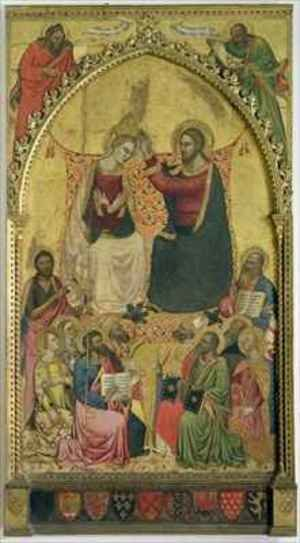 Andrea & Jacopo Orcagna di Cione reproductions - The Coronation of the Virgin with Saints and Prophets 1372