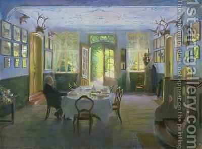 The Hall of the Manor House in Waltershof 1894 by Hans Olde - Reproduction Oil Painting