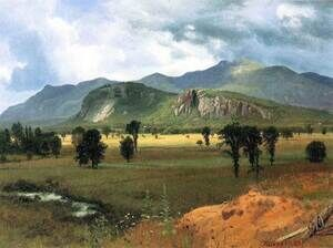 Reproduction oil paintings - Albert Bierstadt - Moat Mountain Intervale, New Hampshire